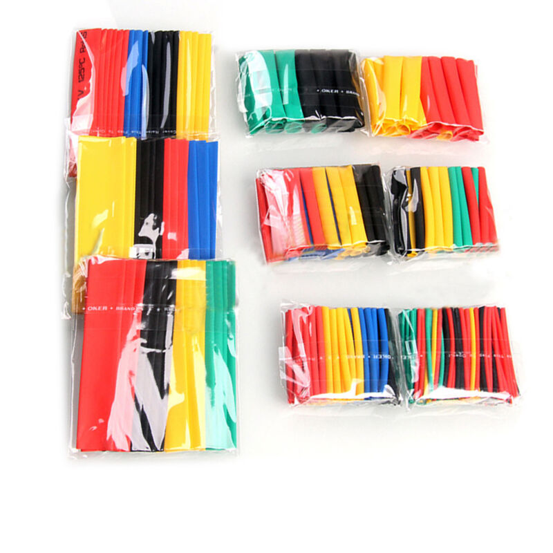 328 Pcs Polyolefin 2:1 Heat Shrink Tube Sleeving Wire Cable Wrap Sleeve 8 Sizes