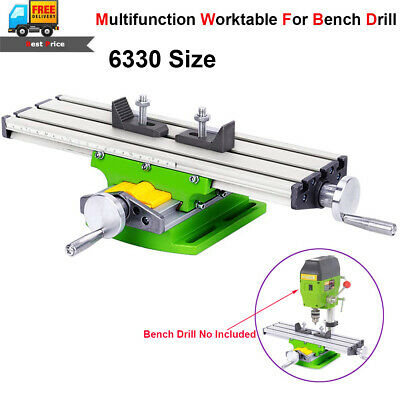 Milling Machine Vise Fixture Cross Slide Work Table 2 Axis For Bench Drill Press