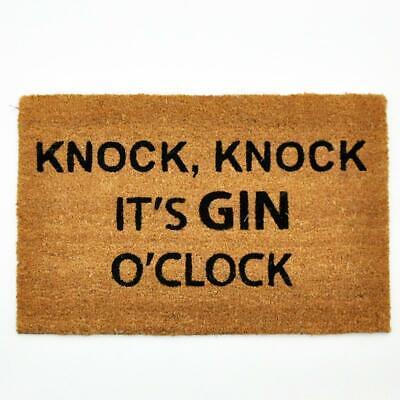 Coir Rubber Back Entrance Door Floor Mat Gin O'Clock Indoor Outdoor Garden Hall Outdoor Floor Clock