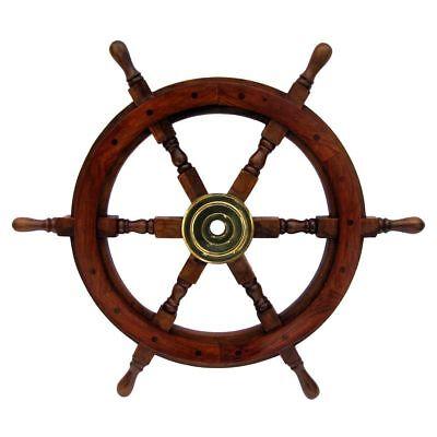 "12"" WOODEN SHIP WHEEL - Pirate Shipwheel - NAUTICAL"