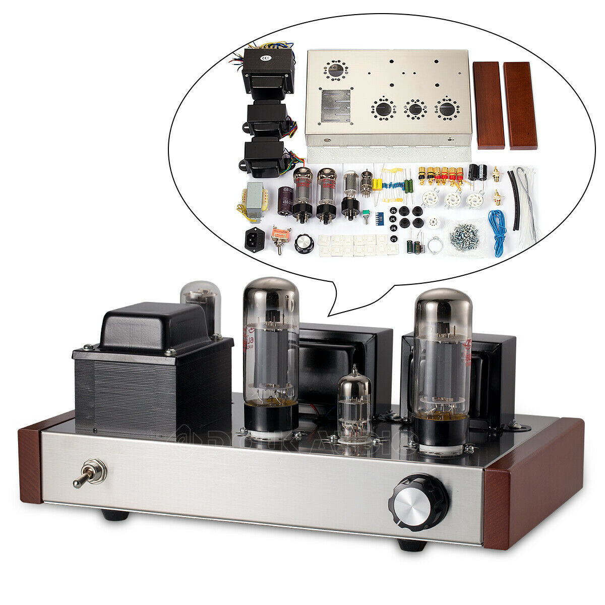 Details about Single-ended 6L6 6N1 Vacuum Tube Amplifier Class A HiFi  Stereo Audio Amp DIY KIT