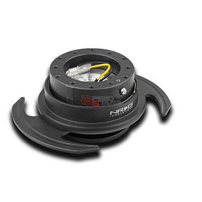NRG CAR/TRUCK STEERING WHEEL LOCK QUICK RELEASE ADAPTOR GEN 3.0 GUN METAL+RING