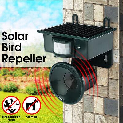 ❤ Outdoor Solar Ultrasonic PIR Repeller Animal Bird Bat Cat Dog Deterrent Scarer
