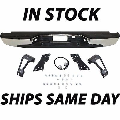 NEW Complete - Chrome Rear Step Bumper 1999-2006 Chevy Silverado GMC Sierra 1500