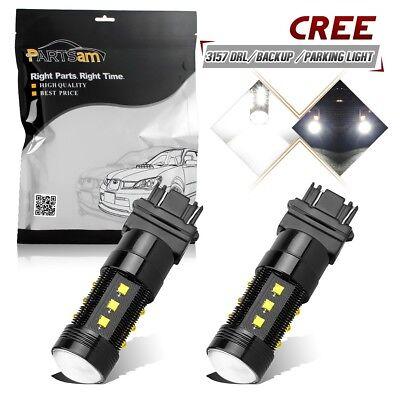 2pcs 75W Bright White 3057 4057 4157 3157 Cree-XB-D LED Brake Turn Signal Lights