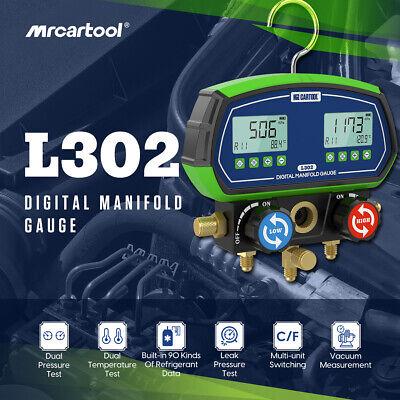 Refrigeration Digital Manifold Gauge Hvac Vacuum Dual Pressure Temp Leakage Test