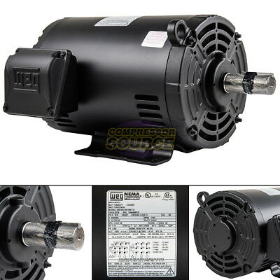 5 Hp 184t 3 Phase Weg Electric Motor Air Compressor 1760 Rpm 208-230460