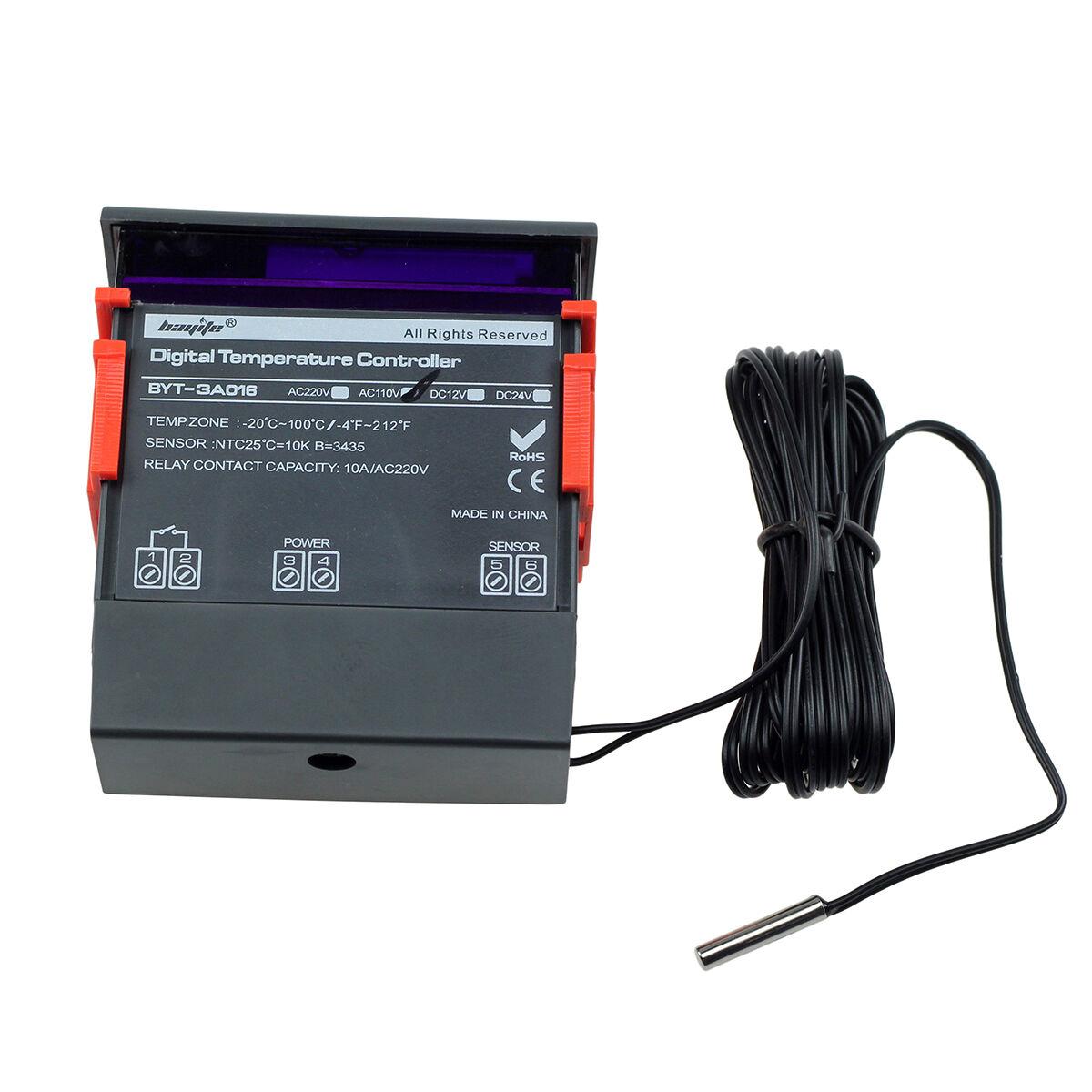 Купить BAYITE Digital Temperature Controller - 10A 110V Digital Temperature Controller Temp Sensor Thermostat Control Relay US