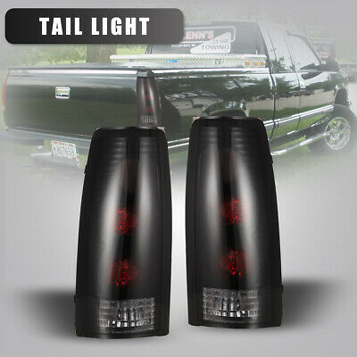 For 88-99 Chevy C/K1500 2500 3500/ 95-00 Tahoe Tail Lights Rear Lamp Black/Smoke
