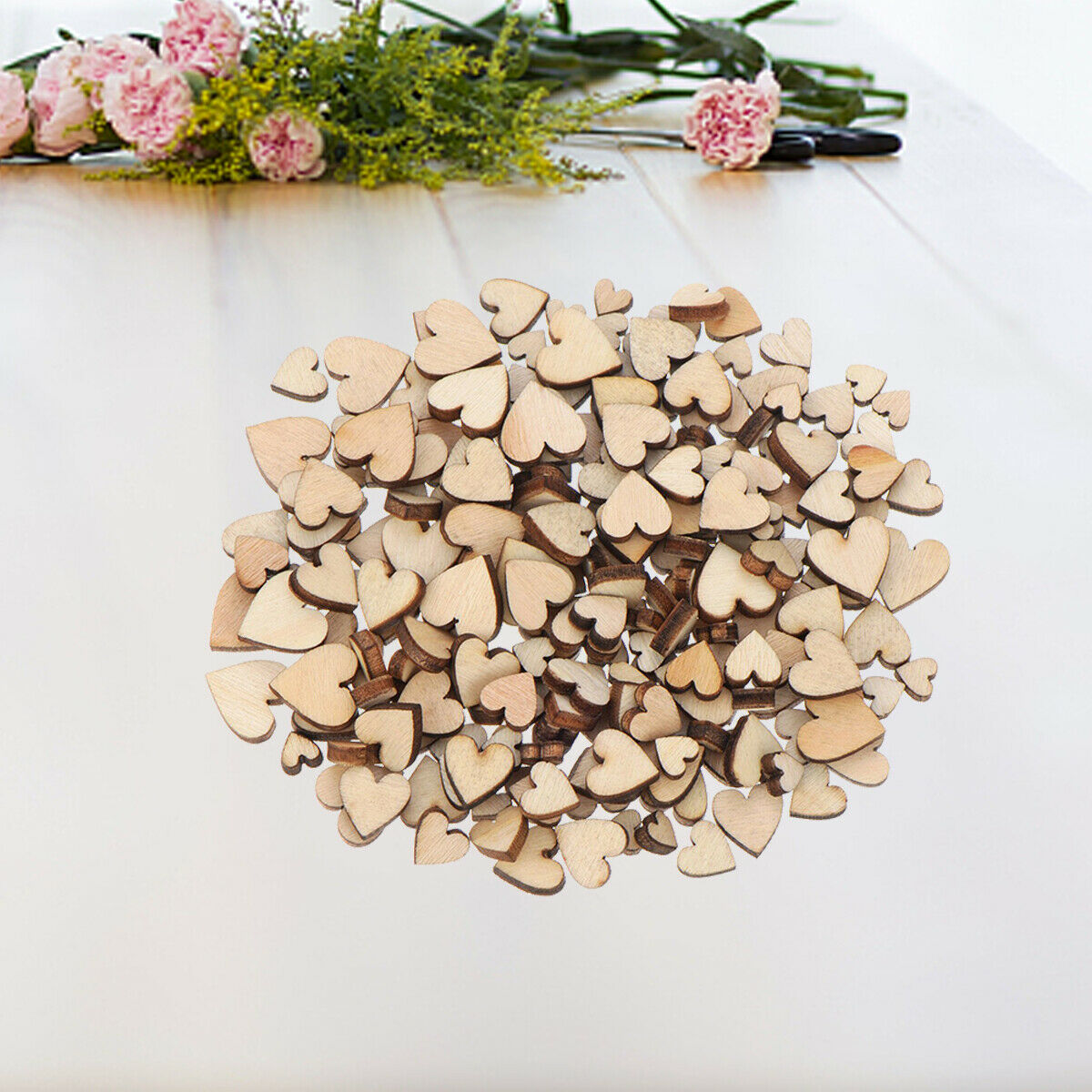 Details About 200pcs Rustic Wooden Love Heart Wedding Table Scatter Decoration Wood Crafts