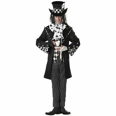 ADULT MENS DARK MAD HATTER SCARY SPOOKY HALLOWEEN COSTUME COSPLAY S-XL - Dark Mad Hatter