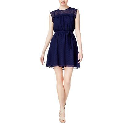 Maison Jules Womens Navy Special Occasion Swiss Dot Party Dress XL BHFO 6947