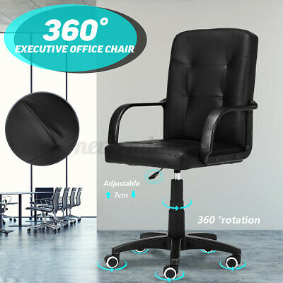 Mid Back Office Chair Computer Desk Chair Gaming Business Ergonomic Soft Cushion