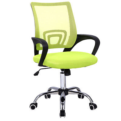 Modern Mesh Mid-back Office Chair Computer Desk Task Ergonomic Swivel Green New