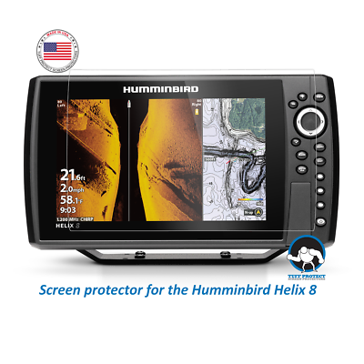 Clear Screen Protectors for Humminbird Helix 8  - Tuff Prote