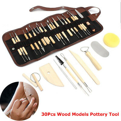 30pz/Set Ceramica Argilla Scultura Modellazione Arte Atrumento DIY Tool Kit