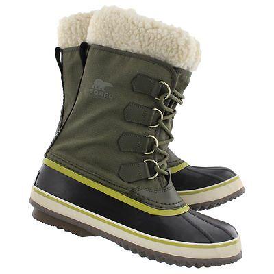 New Womens Sorel Winter Carnival Peatmoss Waterproof Leather Boot  32F Size 6