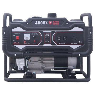 Carroll Stream Cs4000x Defense Series 4250w Watt Gas Generator 120 240v Portable
