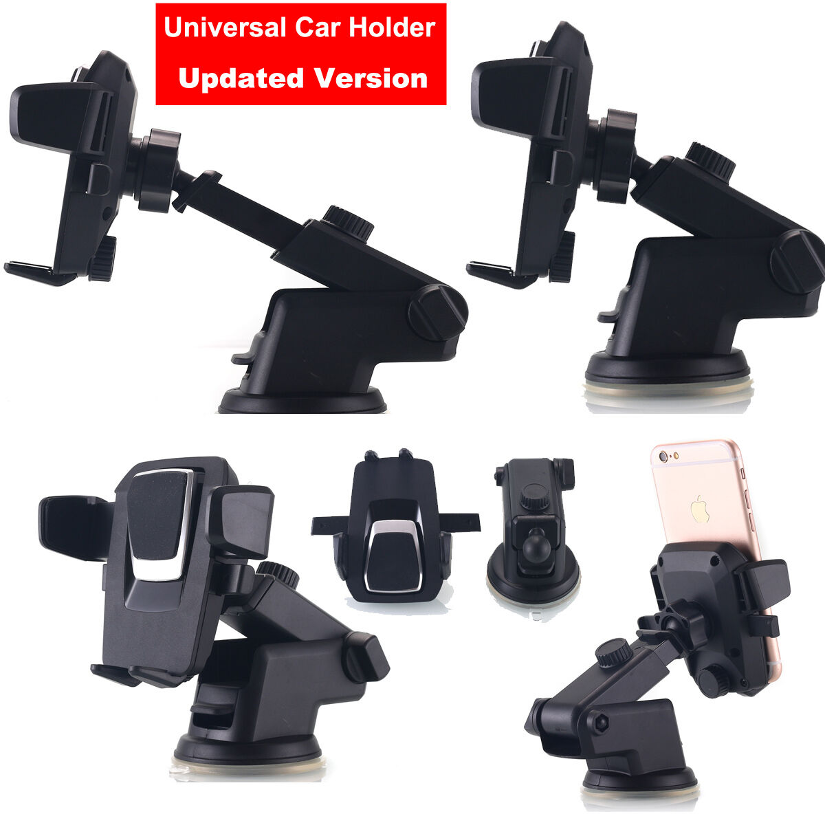 Universal 360°Car Holder Windshield Mount Cradle Cell Phone