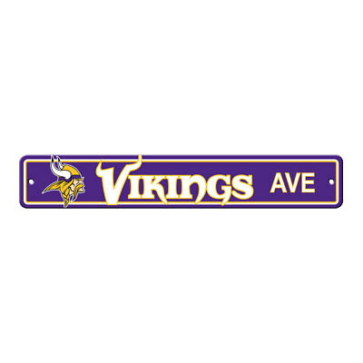 - NFL Minnesota Vikings Home Room Bar Office Decor AVE Street Sign 4