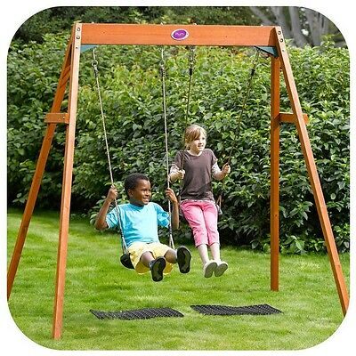 Plum Products Wooden Double Swing Set