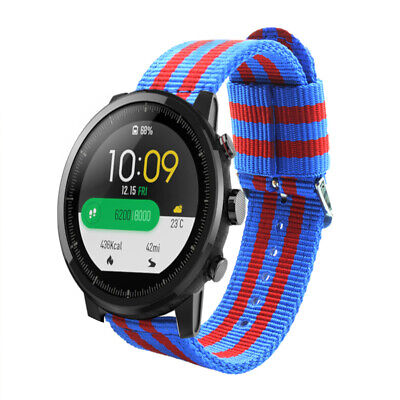 Pulsera de Nailon para Xiaomi AMAZFIT Stratos 3 Barcelona FC Transpirable 22mm