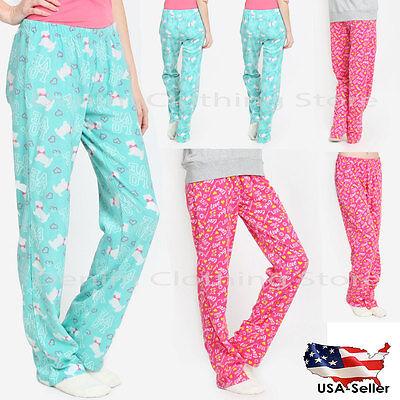 Women Spring Winter Sweatpants Printed Pajama Pants Sleepwear Lounge Cozy Fleece