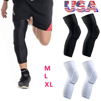 Honeycomb Knee Pad Basketball Crashproof Leg Long Sleeve Protector Gear Upgrated
