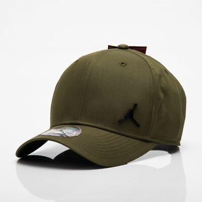 NIKE AIR JORDAN METAL JUMPMAN CLASSIC99 BASEBALL HAT CAP OLIVE CANVAS 899657-395