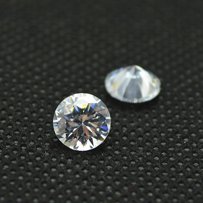 (2Pcs Loose Diamond 2.3-2.4MM E F VS HPHT CVD Lab Grown SYNTHETIC 0.1CT Total)