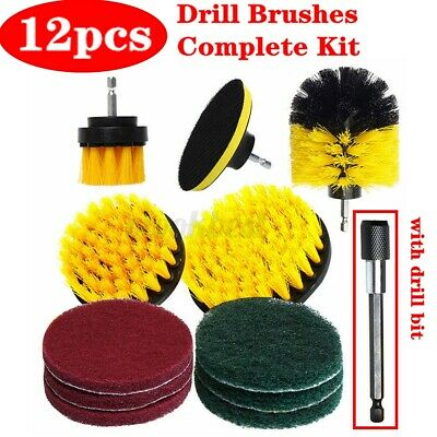 12pcs Drill Brush Set Power Scrubber Attachments For Carpet Grout Tile Cleaning