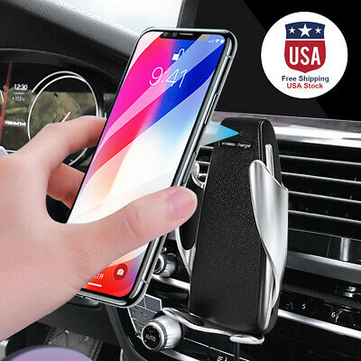 Universal Automatic Sensor Wireless Car Charger Fast Charging Phone Holder