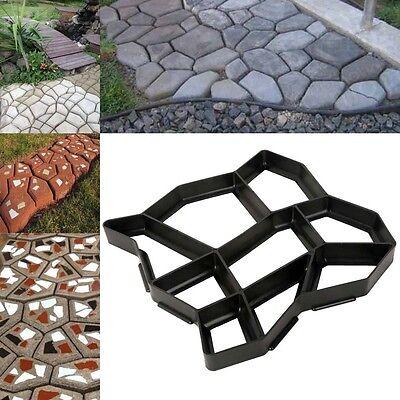 DIY Garden Path Maker Mold Paving Cement Brick Mould Ornament Stone Road Black