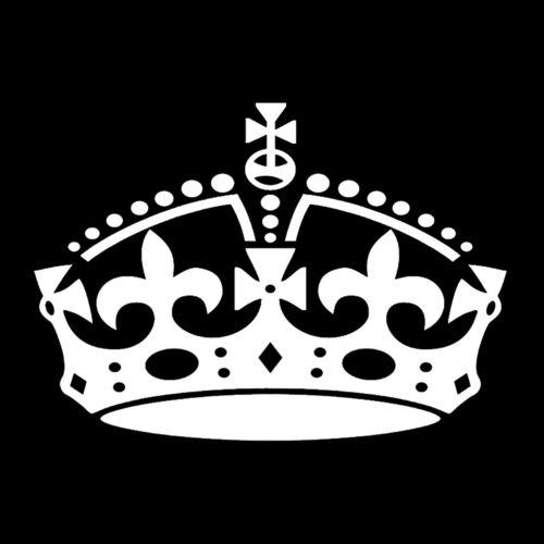 York Rite Crown Masonic Vinyl Decal - White 6 Inch