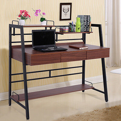 Computer Desk PC Laptop Table Drawer Shelf Workstation Home Office Furniture New