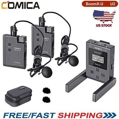 US COMICA BoomX-U U2 Broadcast UHF Wireless Microphone System Transmit Receiver