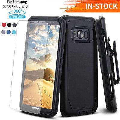 F Samsung Galaxy S9+ Note 8 Shockproof Hybrid Phone Case W/ Kickstand Clip Cover
