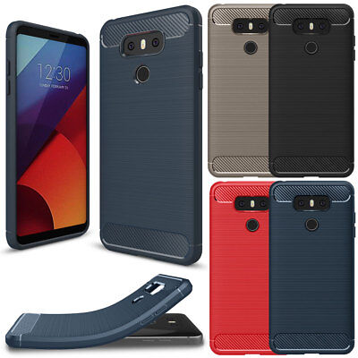 Carbon Fiber Phone Protector Case - For LG G6 Cover Hybrid Carbon Fiber Shockproof Drop Screen Protector Phone Case
