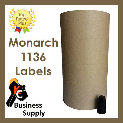 Labels For Monarch 1136 Two Line Price Gun - Tan - Ink Roller Included
