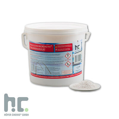 1 x 5 Kg Chlor Granulat f. Schock Chlorung Pool Versandkostenfrei