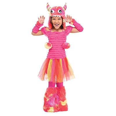 Wild Child Pink Monster Toddler Costume with Hood | Fun World - Monster Toddler Costume