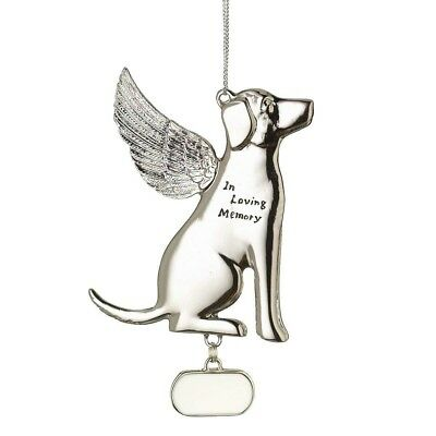 In Loving Memory Dog Zinc Alloy Bereavement Holiday Ornament
