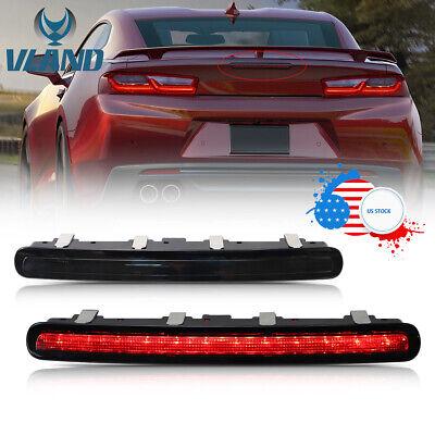 LED 3rd Brake Stop Light Red Light For 2014-2015 Chevrolet Camaro Smoked Lens  Red Led 3rd Brake Light