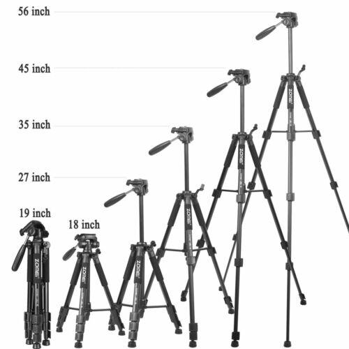 ZOMEI Q111 Light Weight Tripod Stand Kit 4-Section 3-Way