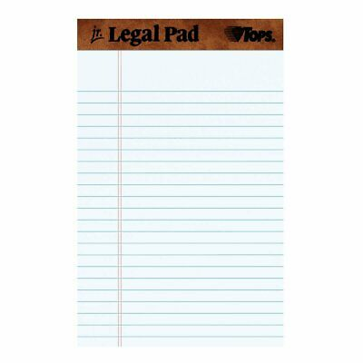 Tops The Legal Pad Jr Writing Pads White 5 X 8 50 Sheetspad 12 Pack