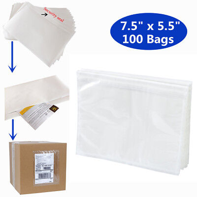7.5x5.5 Inch Clear Top Loading Packing List Invoice Pouches Label Envelopes Bags