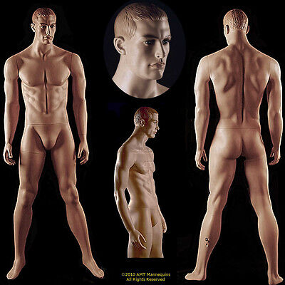 Male Display Mannequinbase Full Bodyrealistic Looking Dmaged Defective -ma12w