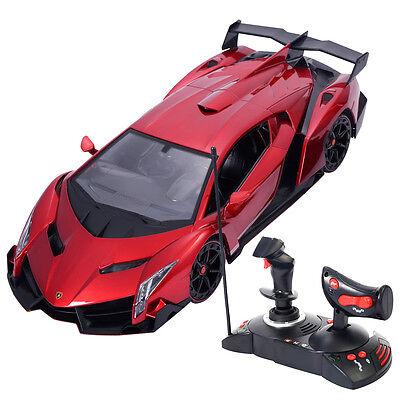 114 lamborghini veneno electric sport radio remote control rc car kids toy red