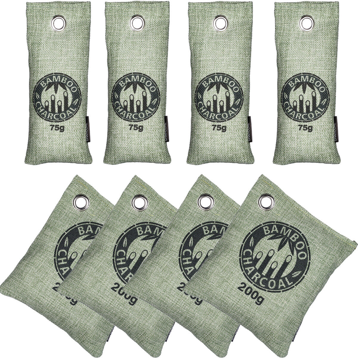 8 x Natural Bamboo Charcoal Air Purifying Bags Home Car Freshener Odor Deodorant