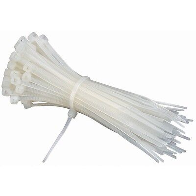 4in Cable - 4 in. White Cable Ties 100 Pk. Zip ties